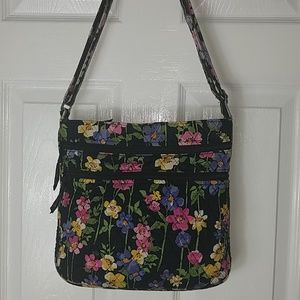 Vera Bradley, Black Floral bag, gently used
